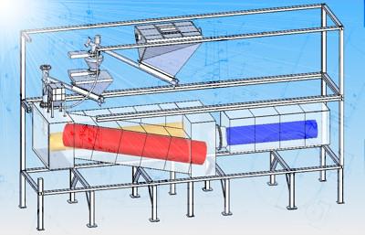 schema impianto conversione matrici carboniose